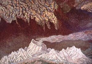 Nevada del Ruiz, 9: acrylic painting