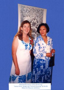 Beth Neville and Evelyn Berthrong in dresses made by Beth