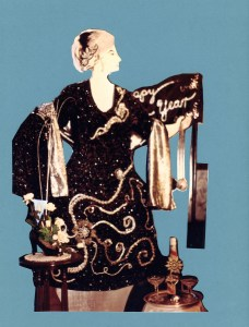 Evening gown designed by Beth Neville, displayed on mannequin