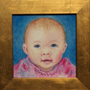 oil portrait of Sloan Baby Granddaughter