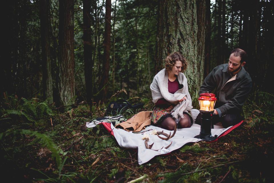 Lesley + Jordan's Powell Butte Hiking Engagement Adventure