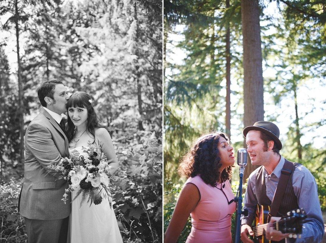 Ashley + Ian's Hoyt Arboretum DIY Forest Wedding