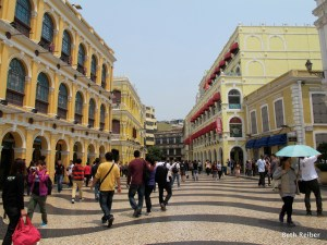 Historic downtown Macau is a World Heritage Site