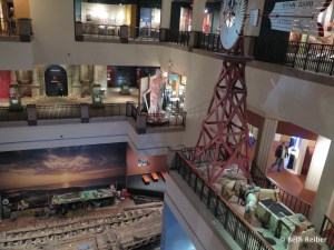 The Texas history museum has three floors of displays