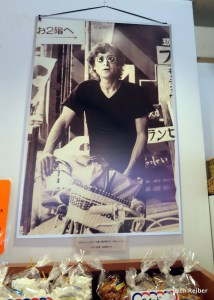 This photograph of John Lennon hangs in the French Bakery, Lennon's favorite cafe