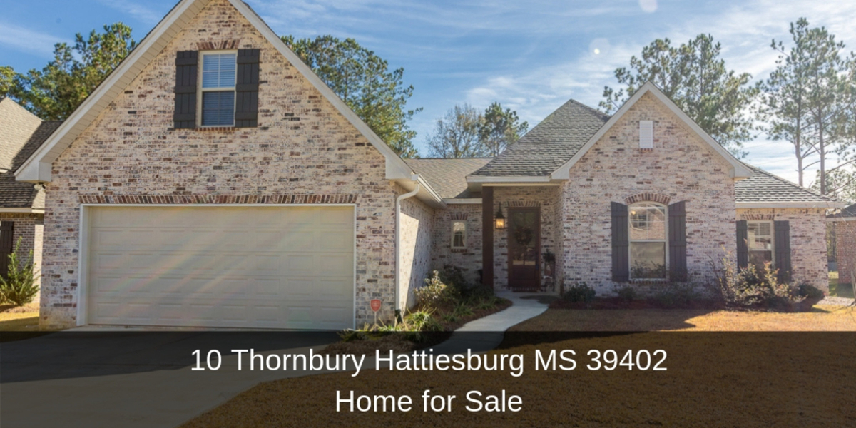 ​Homes for Sale in Hattiesburg MS - Be captivated by the peace, privacy, and location offered by this custom-built home for sale in Hattiesburg MS.