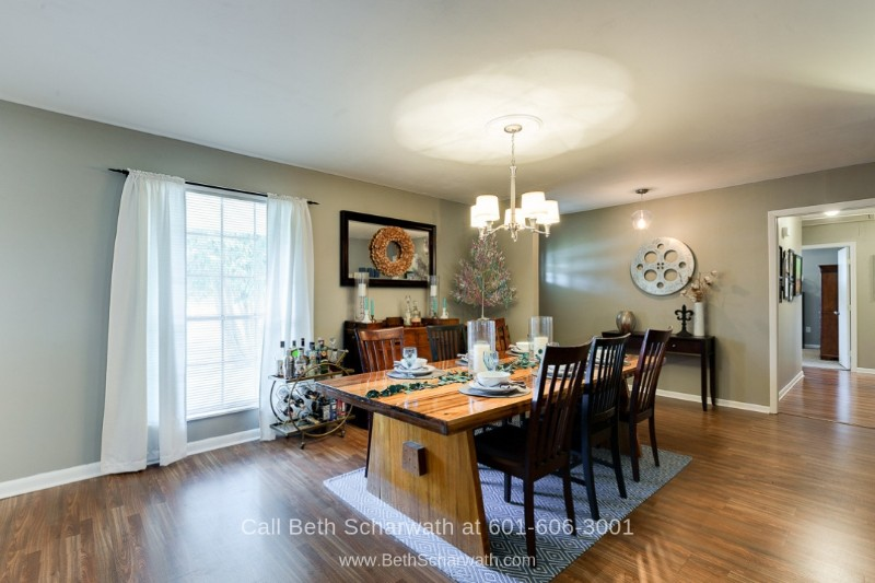 Homes in Hattiesburg MS - Enjoy gatherings and celebrations in the spacious dining room of this home for sale in Hattiesburg MS.