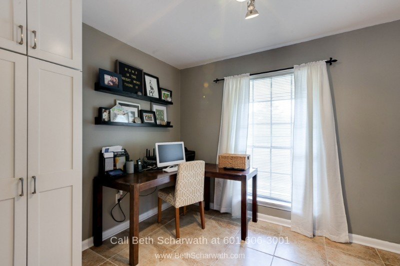 Homes in Hattiesburg MS - Ensure complete concentration in the home office of this home for sale in Hattiesburg MS.