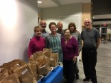 Members of Congregation Beth Shalom of the Blue Hills prepared 75 lunch bags for Father Bill's Homeless Shelter in Quincy.