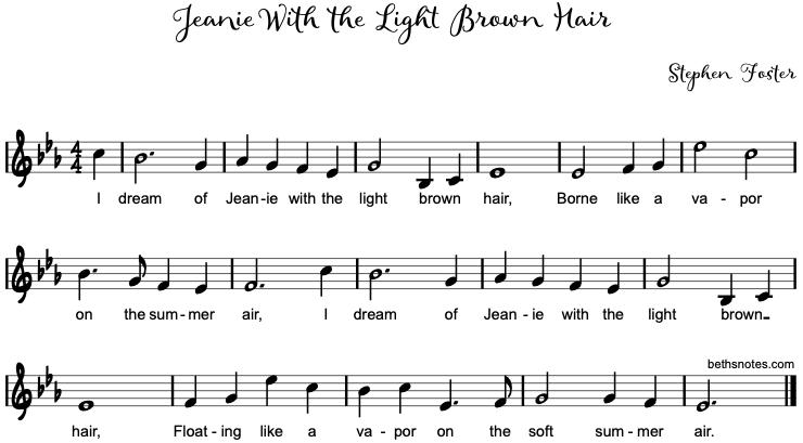 Jeanie Light Brown Hair Chords