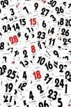 Abgerissene Tage eines Kalenders