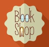 Retro book shop elements