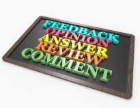 Feedback,Opinion,Answer,Review,Comment 3d word