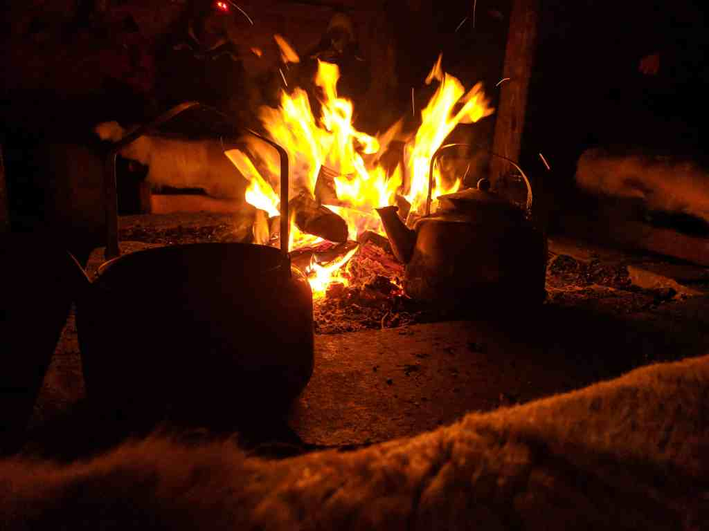 Fireplace at Camp Nikka