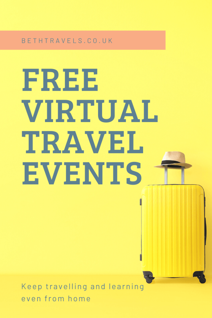 The best free virtual travel events Pinterest Pin