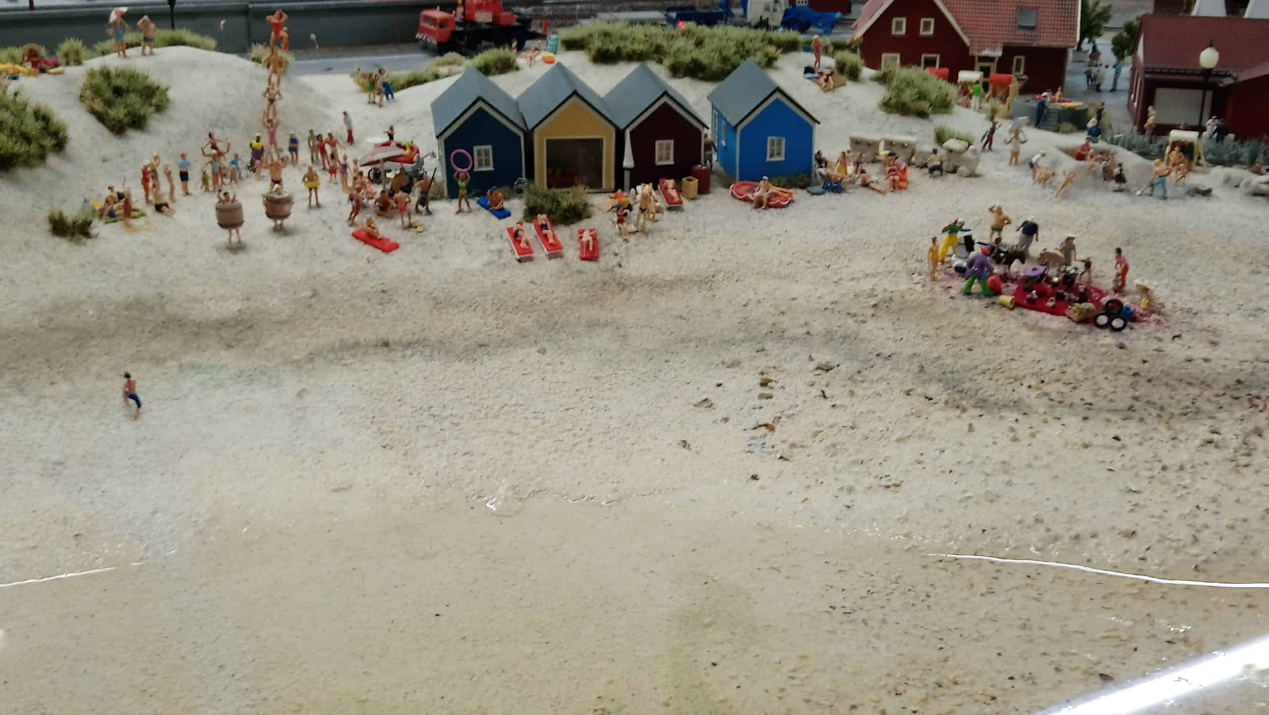 Beach Scene at Hamburg Miniature World, one of the best quirky museums