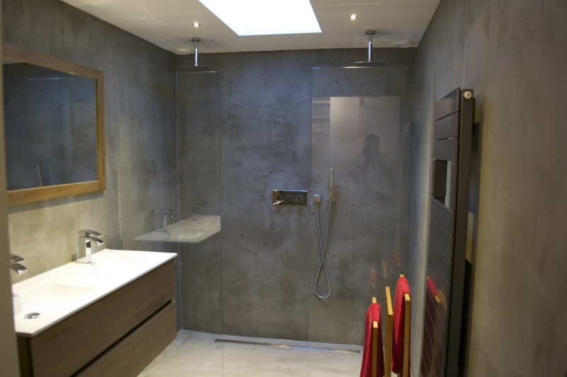 Beton In Badkamer : Badkamer beton ciré in den haag. beton ciré centrum