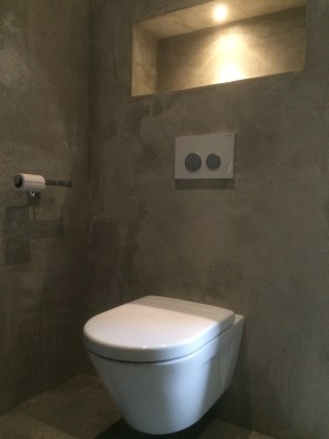 Toilet met Beton Ciré