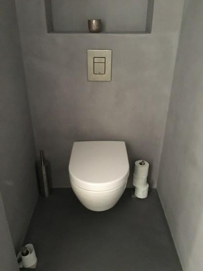 Beton Ciré toilet te Bussem