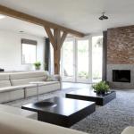 Prachtige woonkamer met beton-cire accenten