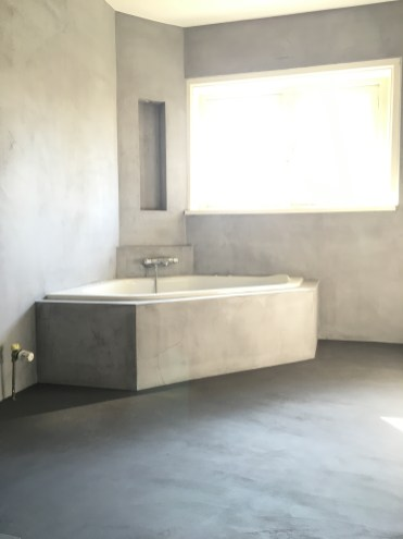 Beton Ciré badkamer wanden en vloer - Bussem