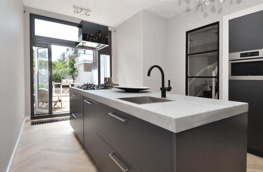 Keukeneiland met beton cire