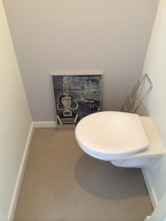 Beton Lissé vloer toilet