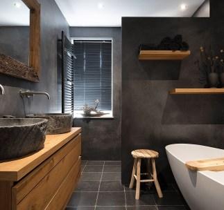 Beton Cire badkamer - gevlinderd