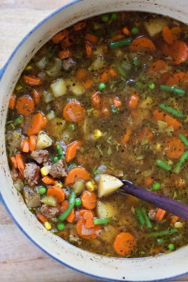 Beef Vegetable Soup.