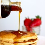 Whole wheat pancakes that are delicious and simple to make!