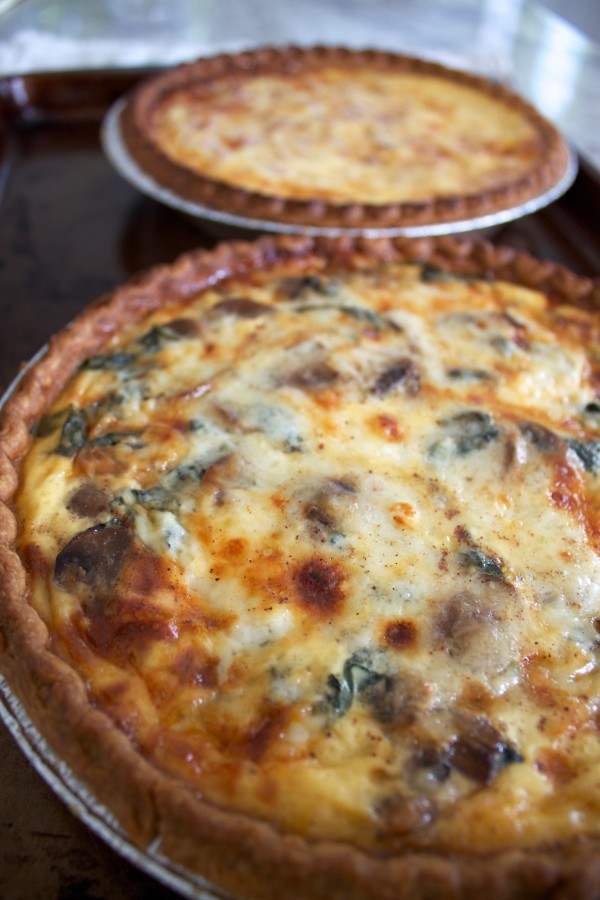 easy cheesy quiche bakes up golden and gorgeous
