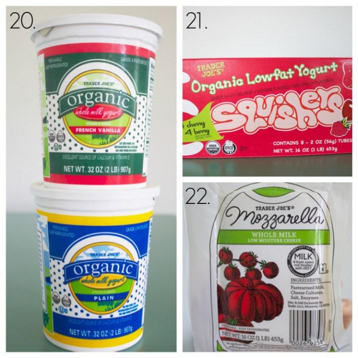 yogurt, frozen yogurt, mozzarella cheese