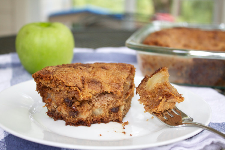 a bite of apple cake