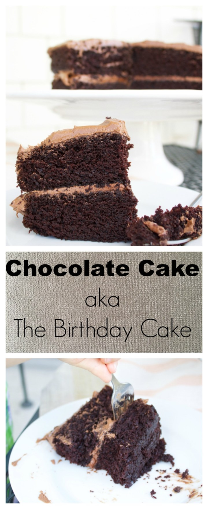 This chocolate cake is so moist, so rich, and so easy to make! It's very much in demand for birthdays and any special occasion at our house.