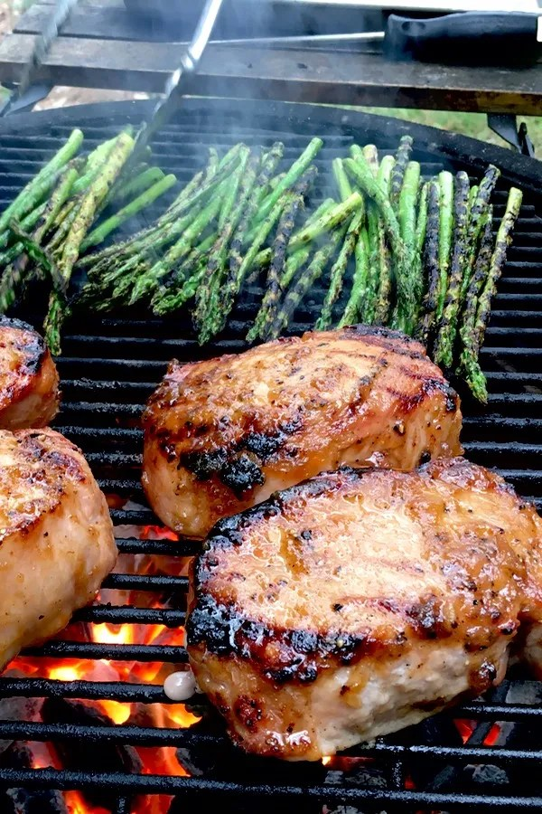 Easy Roasted Apple Grilled Pork Chops.