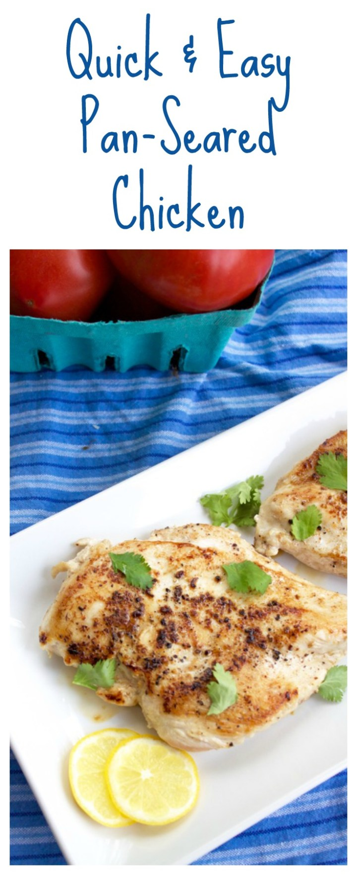 Quick & Easy Pan-Seared Chicken long