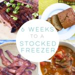 Instead of a marathon cooking day, take a more gradual approach to freezer meals by doubling your favorite recipes and stocking your freezer in six weeks!
