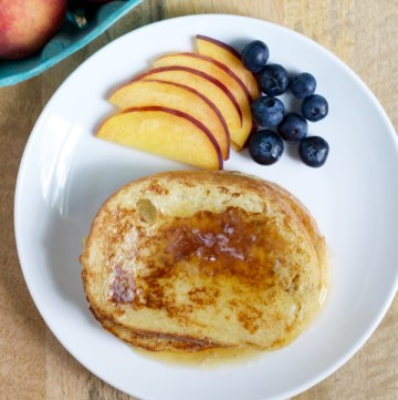 A french toast recipe that takes really simple ingredients and makes them all shine for a perfect breakfast treat.
