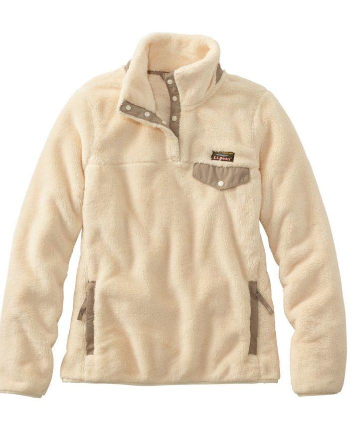 cream colored fleece pullover