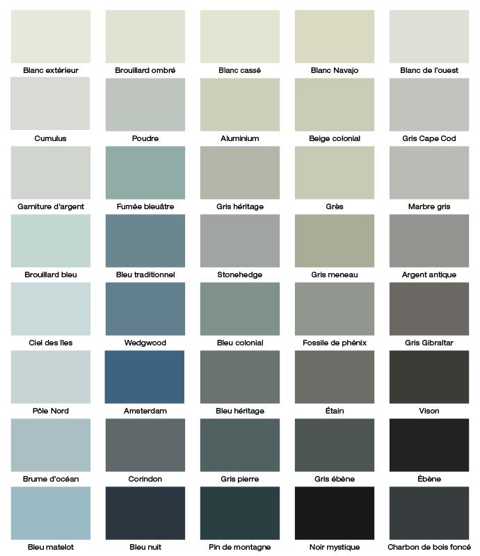 betonel palette des teintures opaques