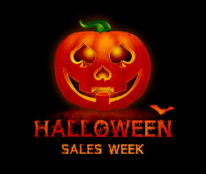 halloween sales week logo