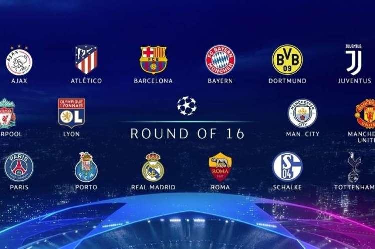 Champions League Last 16 Draw 2020 / UEFA Champions League ...