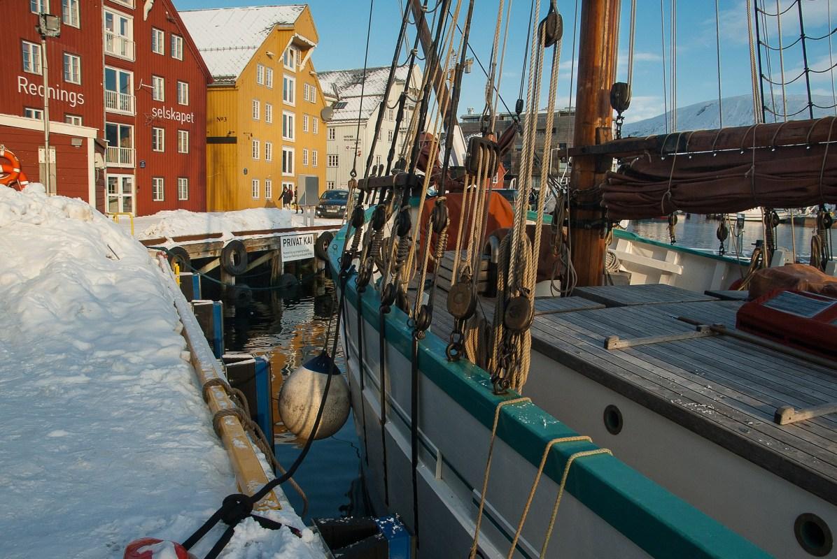 Hafen im Norden Norwegens
