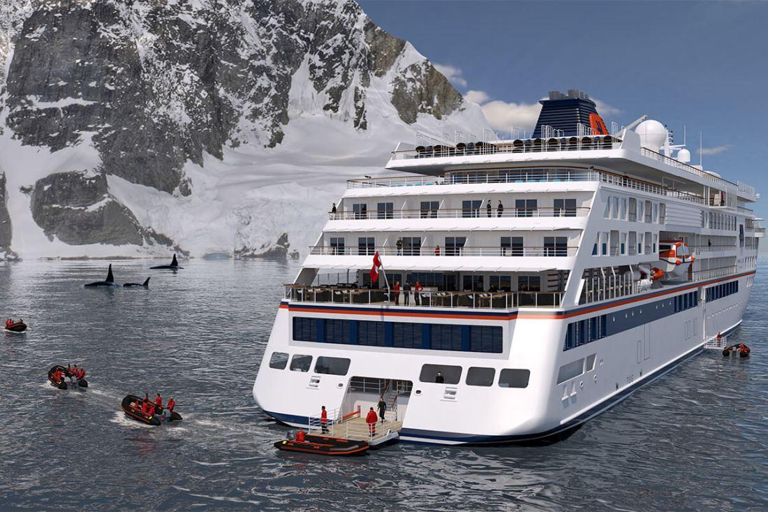 Anlandung Hapag Lloyd Cruiseship