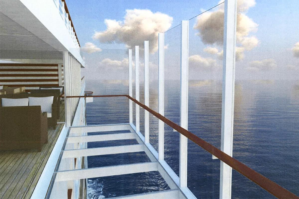 © Hapag Lloyd Cruises: Ausfahrbare gläserne Balkone