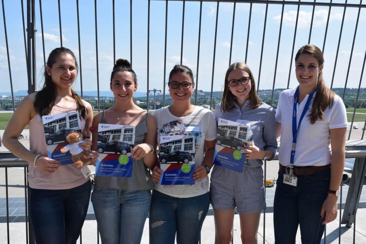 Die glücklichen Gewinner der Flughafen-Rallye