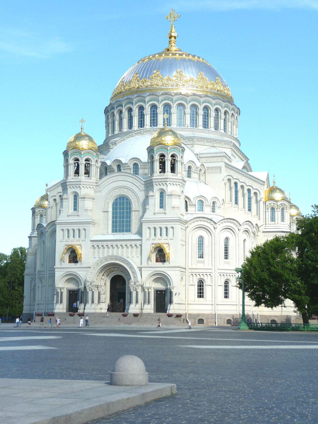 Die Nikolaus Marine Kathedrale in St. Petersburg