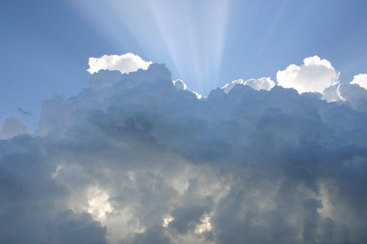 Wolken, Sonnenstrahlen