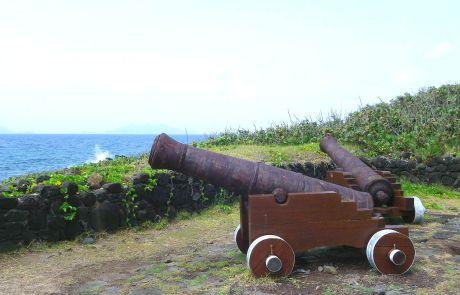 Die beiden Kanonen der einstigen Verteidigungsanlage La Grande Pointe