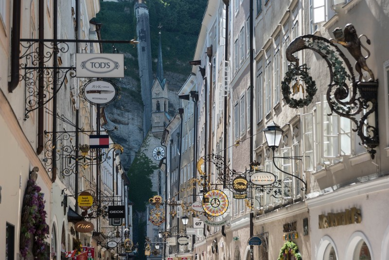 The historical old town of Salzburg is great for a walk